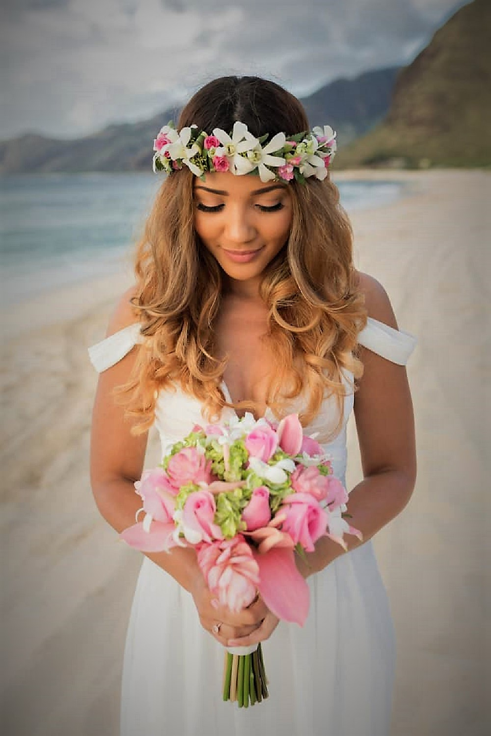 Beach Wedding Hairstyle Should Withstand the Wind