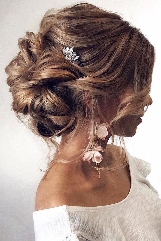 e151017237 Romantic Updos for the Wedding 2019 - Wedding Hair Designs