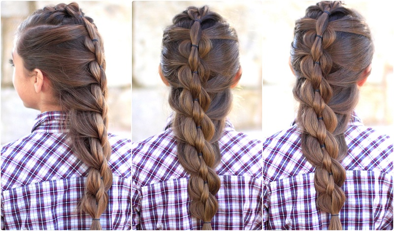 Fashionable Fishtail Hairstyle