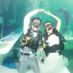 wedding underwater
