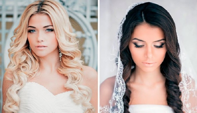 Wedding Hairstyles With Flowing Hair