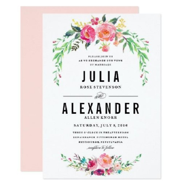 classic wedding invitation cards 1