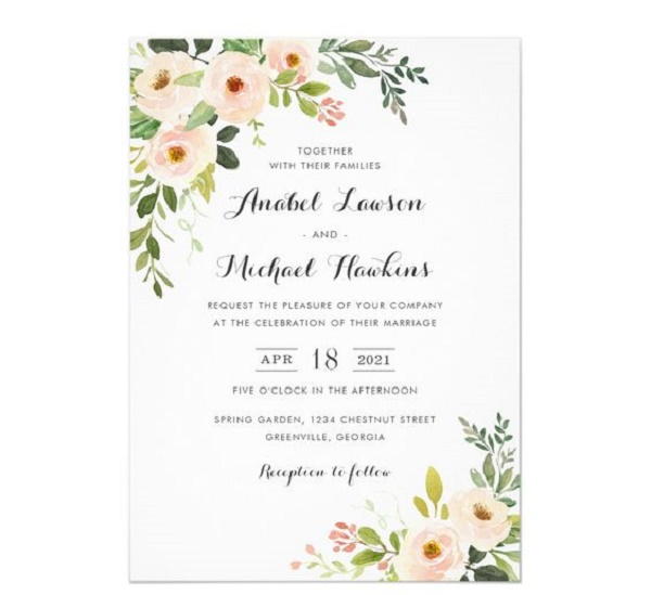 classic wedding invitation cards 2