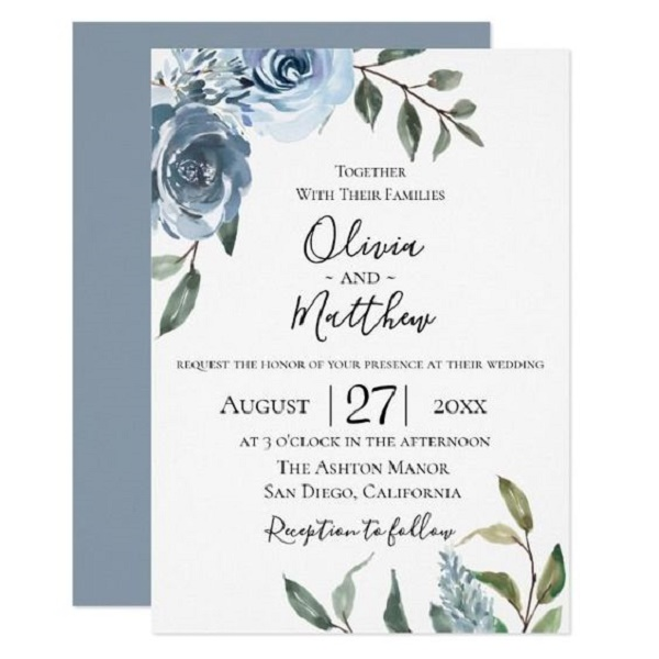 classic wedding invitation cards 3